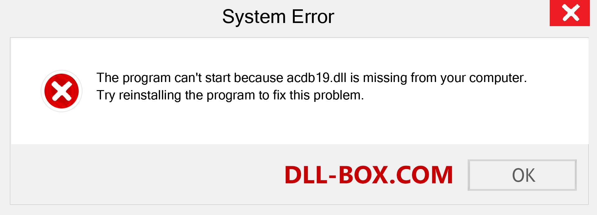 acdb19.dll file is missing?. Download for Windows 7, 8, 10 - Fix  acdb19 dll Missing Error on Windows, photos, images